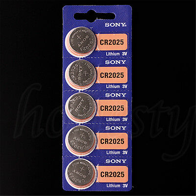 4/10pcs Battery for Sony CR2025 Coin Button Watch Car Remotes Calculator