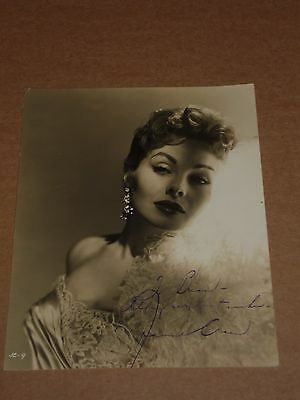 Jeanne Crain 10 x 8 mid 1950s Agency Publicity Photo (Hand Signed)