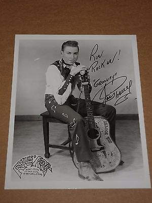 """Groovey"" Joe Poovey 10 x 8 Rollin' Rock Publicity Photo (Hand Signed)"