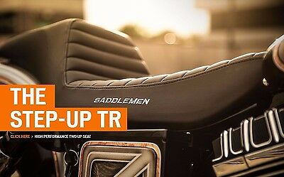 Saddlemen Step Up TR Tuck N Roll Stitch 2 Up Seat Harley Dyna 2006-2017 FXDWG