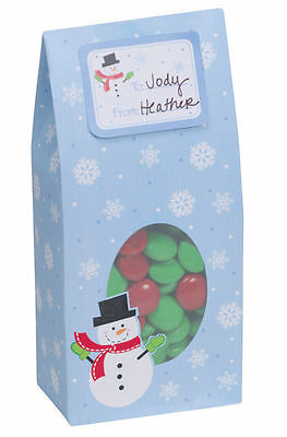 6 x Christmas Gift packaging boxes Snowman Cookie Treat Sweets Boxes - FREE P&P