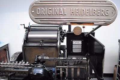 Heidelberg Windmill Redball 10x15 Letterpress Platen Press