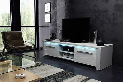 MODEL 2017 MANHATTAN Modern TV STAND 140cm LED Cabinet Unit HIGH GLOSS 5 COLOURS