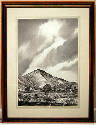 Original Pen & Ink Drawing Framed & Signed Alan Brooks 'Great Gable'