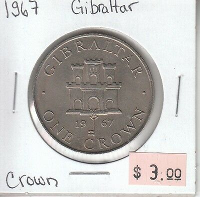 Gibraltar Crown 1967 Circulated
