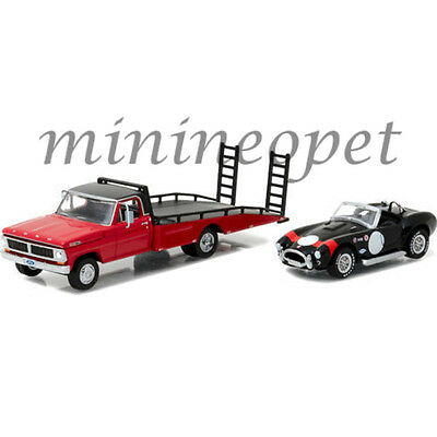 Greenlight 33080 B 1970 Ford F-350 Ramp Truck And Shelby Cobra 427 1/64 Diecast