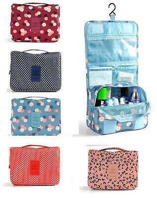 Toiletry Makeup Bag Multi-function Folded Wash Travel Carry Large Hanging Zipper