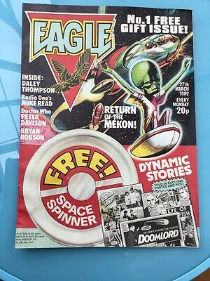 Eagle comic No1 March 27th, 1982 Dan Dare, Mekon, Bryan Robson