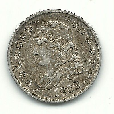 High Grade Extra Fine Details 1832 Capped Bust Half Dime Silver Coin-Apr356