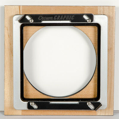 """Burke & James to Crown Graphic - 5"""" Lens Board Adapter - Rare Combination - L@@K"""