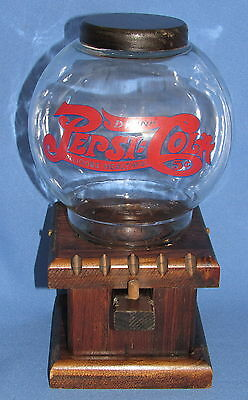 "Vintage Pepsi-Cola Gumball Nut Dispenser---13"" Tall---Very Nice!!!"