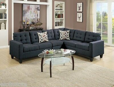 MODERN SECTIONAL SOFA Set Arm Loveseat Wedge Armless Chair ...