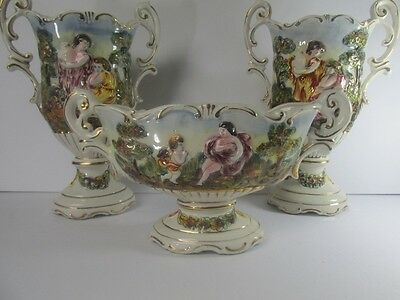 Capodimonte Porcelain Garniture Set