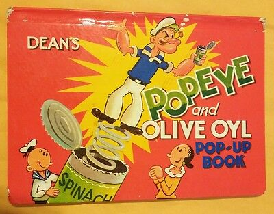 Popeye and Olive Oyl Pop-up book 1963  HC/Good, printed Great Britain