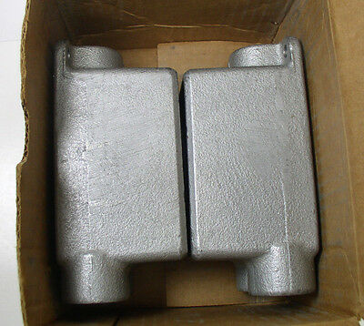 """Crouse Hinds FDCC2 3/4"""" Single Gang Cast Device Box Lot of 2"""