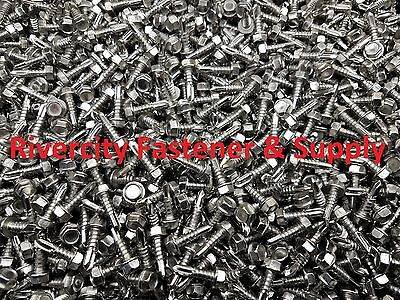 100 Qty #12 x 3 Zinc Hex Head Roofing Screws w//Bonded EPDM Washer BCP1099