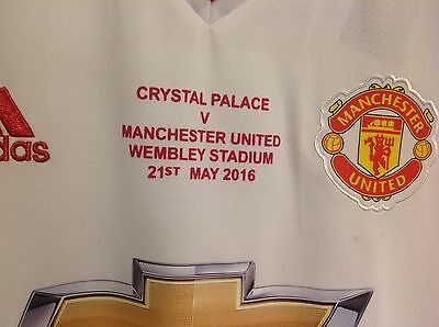 Manchester United Fa Cup Final 2016 Match Shirt Detail