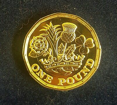 UK 12 sided £1.00 coin-Circulated-Uncirculated-Brilliant uncirculated