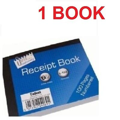 DUPLICATE RECEIPT BOOK Numbered Pages 1-80 + 2 Sheets Carbon Paper Reciept