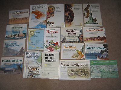 Lot of 61 Vintage National Geographic Maps USA Middle East Europe Africa+ 1959+