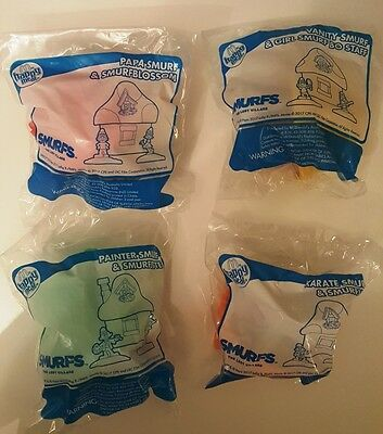 McDonalds Happy Meal Smurfs The Lost Village x 4 New in Packs