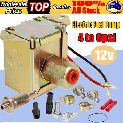 PRO Universal Electric Fuel Pump 12V Solid State 4 to 6PSI 130 LPH Petrol Facet