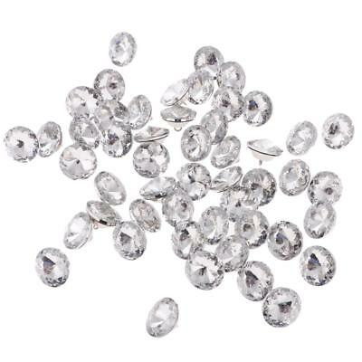 50pcs CRYSTAL DIAMOND EFFECT SOFA HEADBOARD UPHOLSTERY SEWING BUTTONS 25mm