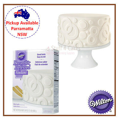 WILTON WHITE VANILLA ROLLED FONDANT 680g RTR ICING COLOUR CAKE DECORATING
