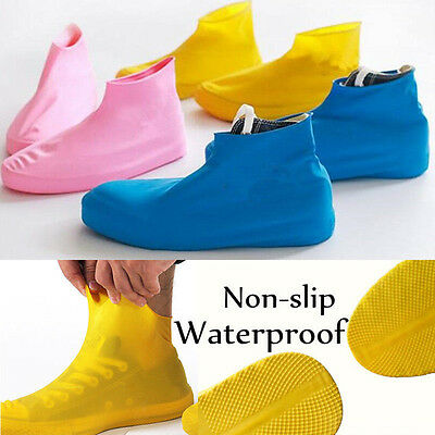 Fashion Rubber Antiskid Waterproof Reusable Shoes Boots Raincoat Cover Overshoes