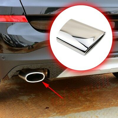Chrome Rear Muffler Exhaust Tail Pipe End Tip Silencer For BMW 3 Series 320 Part