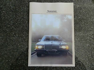 1980 Holden Wb  Statesman And Caprice Sales Brochure 100% Guarantee