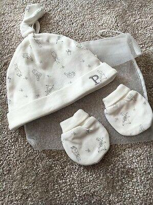 Mothercare Peter Rabbit Hat And Mitts Set 0-3 Months