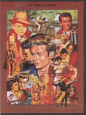 Gambia 1995 Mf 1908-16  Centenario del cinema James Dean  MNH