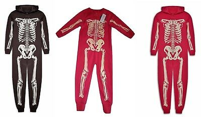 All in one Sleepsuit Onesy Romper Suit Haloween Dark Skeleton Glow in The Dark