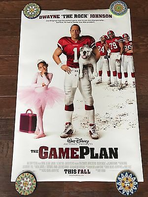 Disney The Game Plan 27X40 Ds Movie Poster One Sheet New Authentic