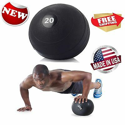 Gold's Gym 20 lb Slam Ball Indoor Fitness Yoga Exercise Equipment Free Shipping