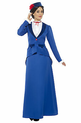 Ladies Adult Victorian Nanny Fancy Dress Costume 5 Sizes 6-22 (46753)