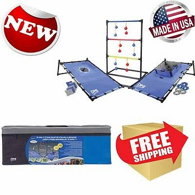 DMI 3 In 1 Tailgate Combo Game Outdoor Activity Sports Play for teens adults New