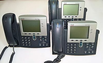3 X Cisco 7940 Unified IP Phone CP-7940G VoIP Device Business Phone Handset PoE