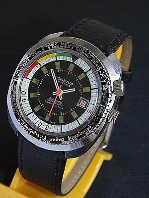 DIANTUS WORLD TIME VINTAGE MECHANICAL cal EB 8800 watch Made in SWISS