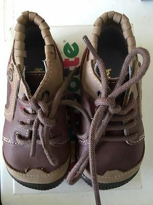 babybotte frolik boysu brown leather summer shoes rrp summer sale