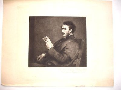 ANTIQUE etching The Reverend George Ridding DD Headmaster Winchester College