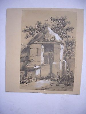 ANTIQUE DRAWING of WELL