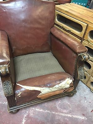 Art Deco 1930s Leather Club Chair