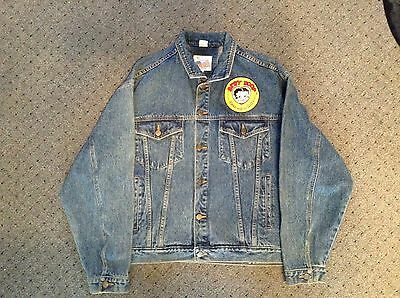 2 Authentic Betty Boop Jackets (1) Embroidered Denim & (1) Leather By Excelled