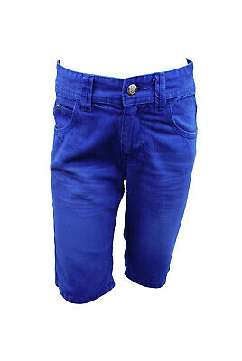 Boys Ex Matalan Jeans Denim Cotton Shorts Blue Size Age 3 to 13 Years Kids