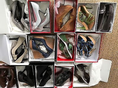 LOT 14 PAIR OF DESIGNER SHOES NIB And Gently Used Heels Pumps Coach Banana Bebe