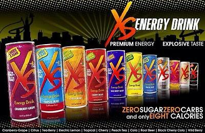 XS® Energy Drinks (Pack of 12 for each flavour - shipped directly from Amway)