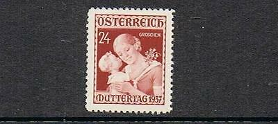 STAMPS  from  AUSTRIA  1937  Mothers Day   (MLH)  A127a