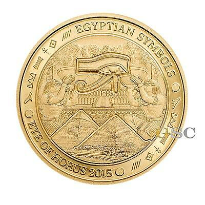 Palau 2015 $1 Eye of Horus - Egyptian Symbols series .999 fine gold coin